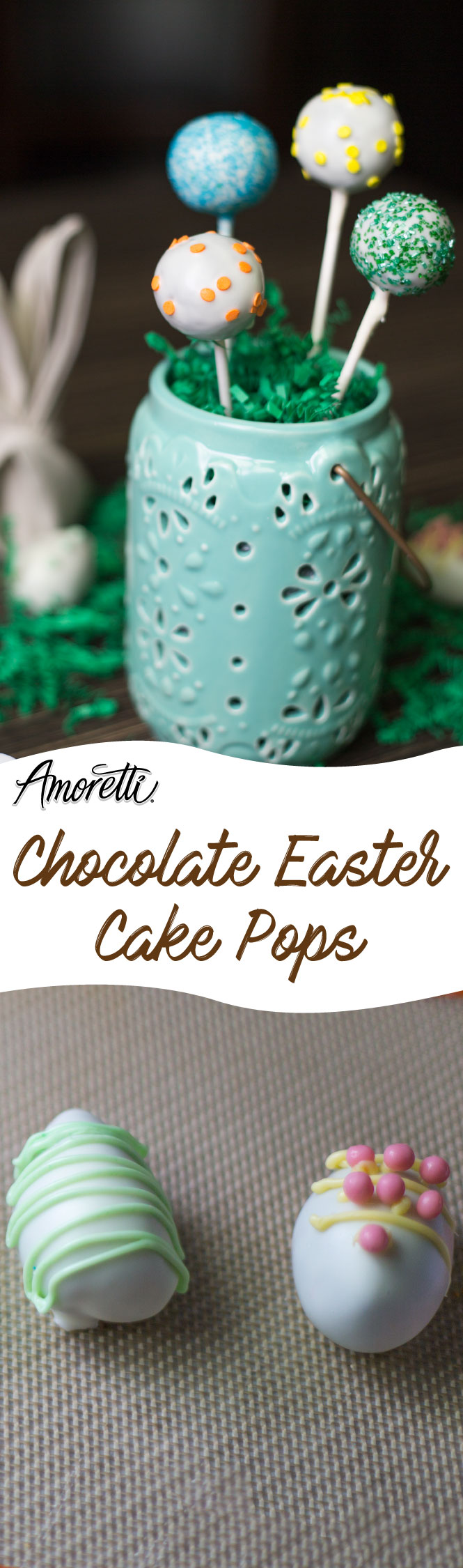 Fun and simple Cake Pops to make for Easter!