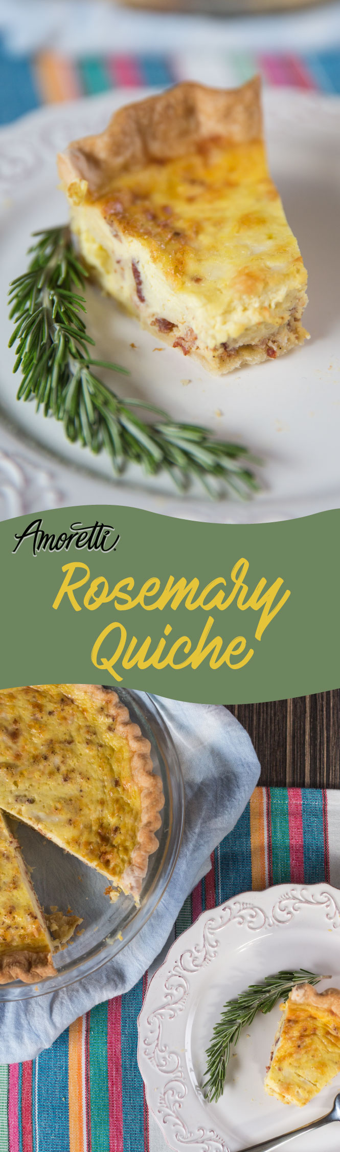 This morning make yourself a gourmet breakfast, a savory rosemary quiche!