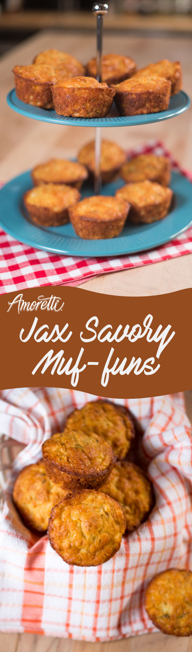 Delicious savory muffins for a barbecue or picnic!