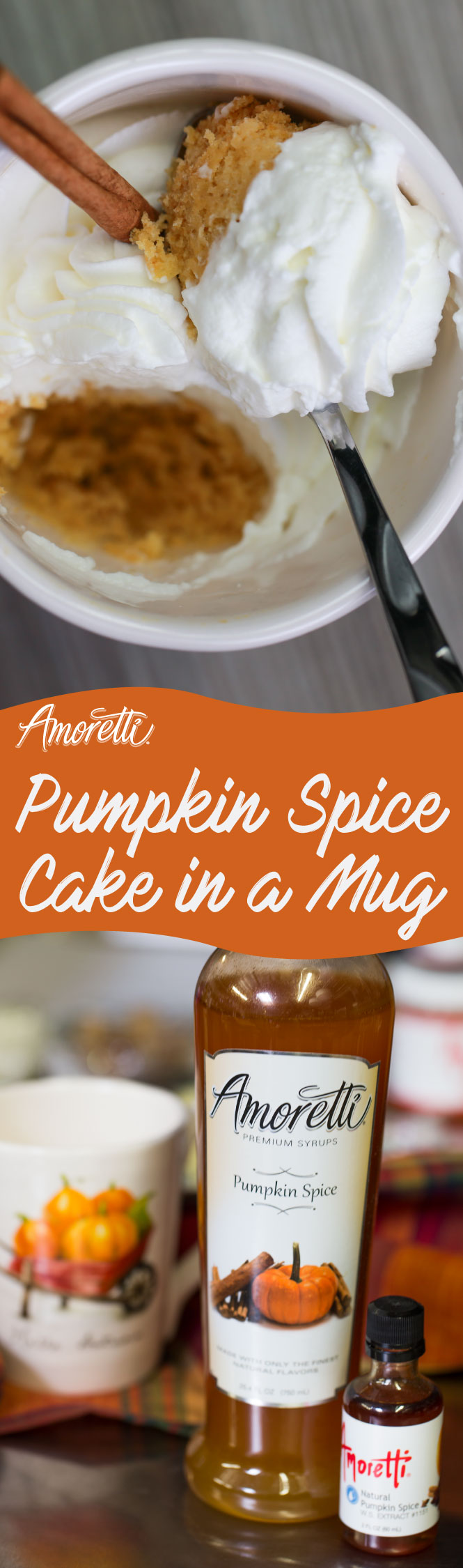 Don't want to spend too much time in the kitchen making a delicious dessert? Then try our pumpkin spice mug cake, it's a very simple recipe!