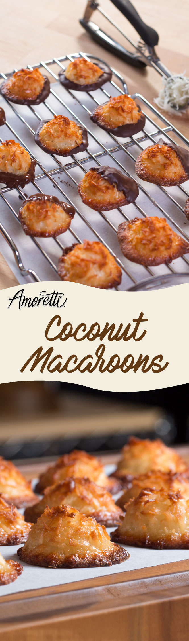 Coconut macaroons are an ideal tea-time dessert!