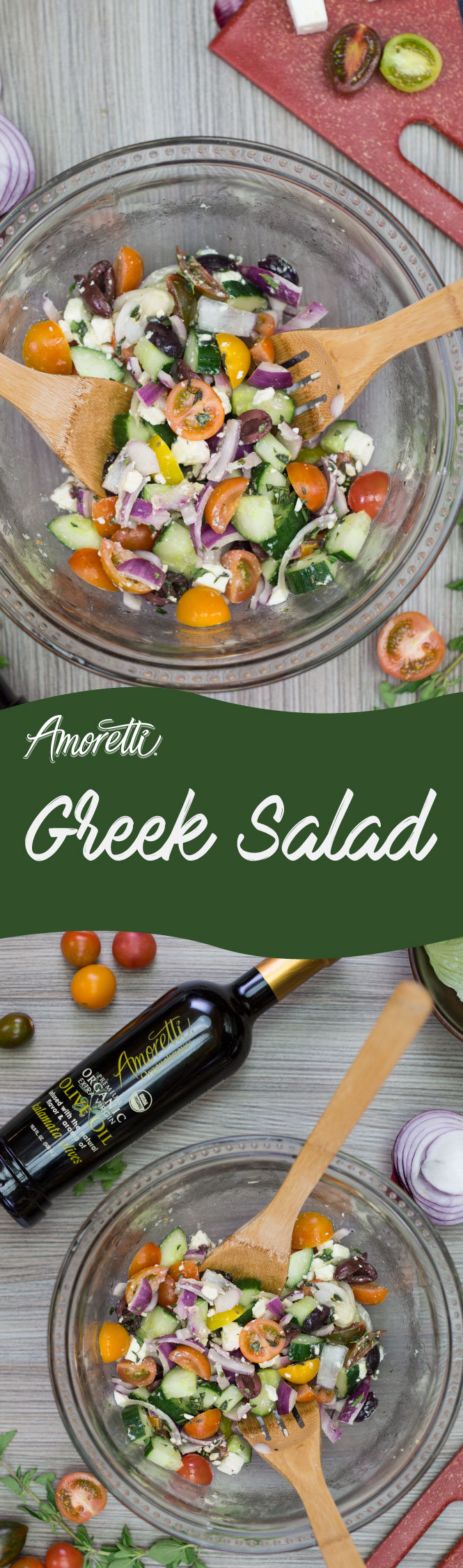 Amoretti's Kamalata Olive Oil gives this salad a savory touch of goodness!
