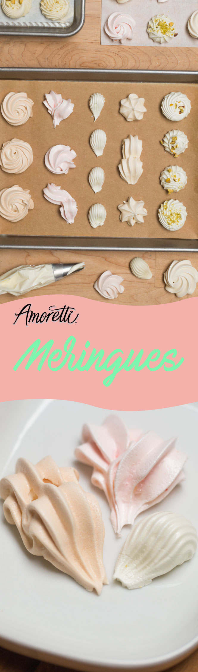 Have fun and get creative designing meringues with this simple recipe!