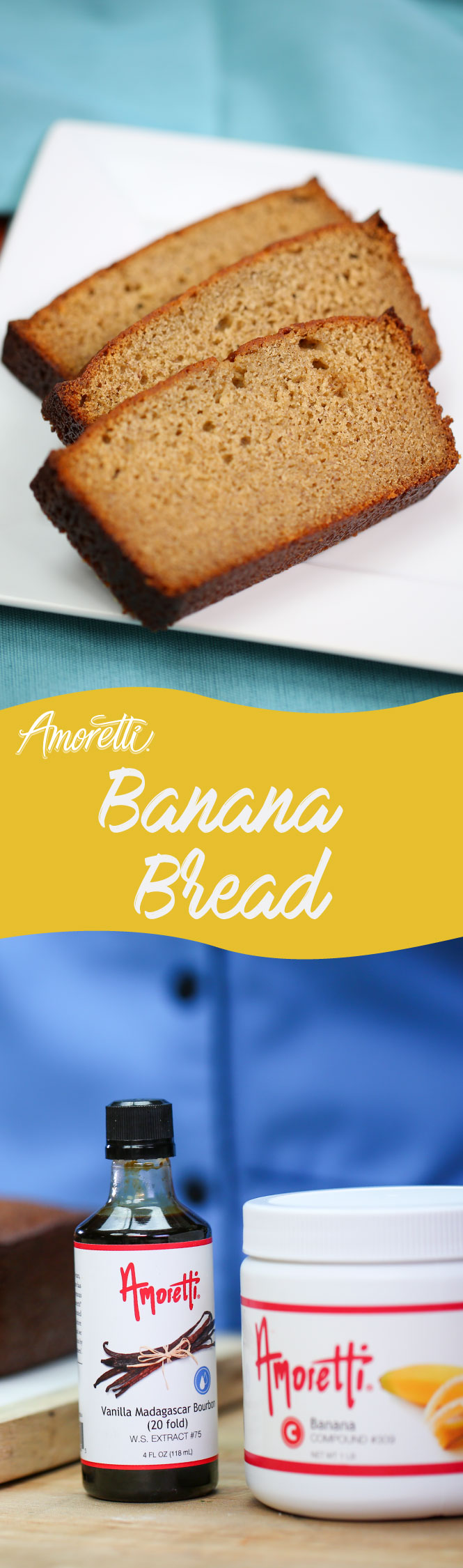 Amoretti Banana Bread: Here is our secret recipe for the most flavorful banana bread!