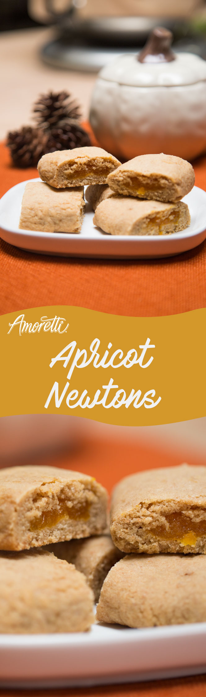 Amoretti Apricot Newtons: Packed with apricot flavor and so tender and chewy!