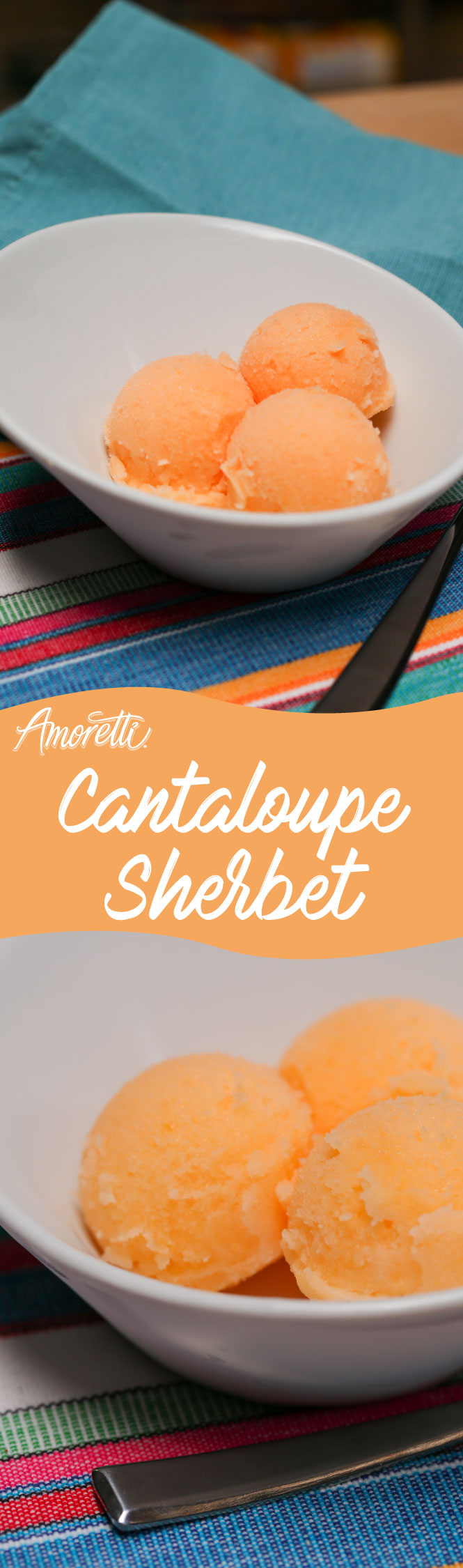 Treat your kids this summer with this healthy frozen cantaloupe sherbet!