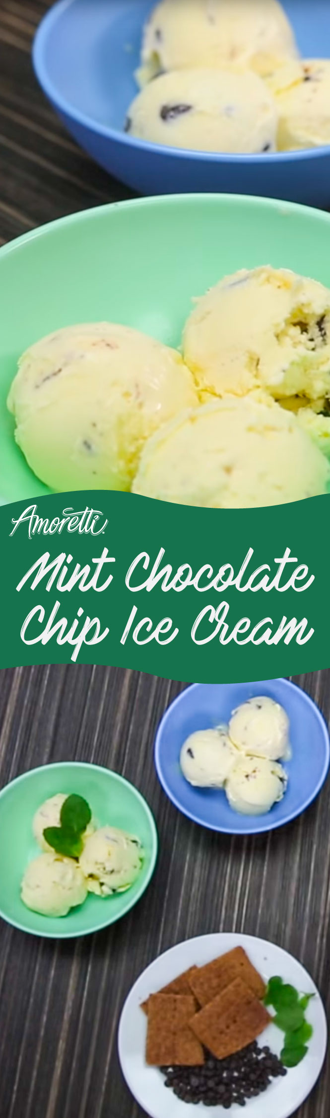 Enjoy this refreshing ice cream packed with chocolate and fresh minty flavor!