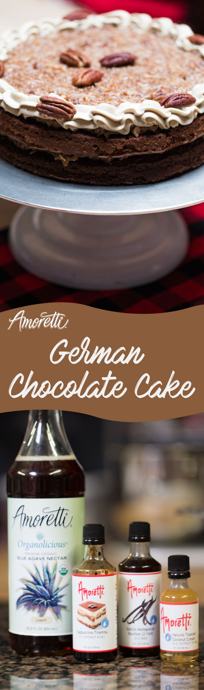 Stop sweet cravings in their tracks with this decadent German Chocolate Cake!