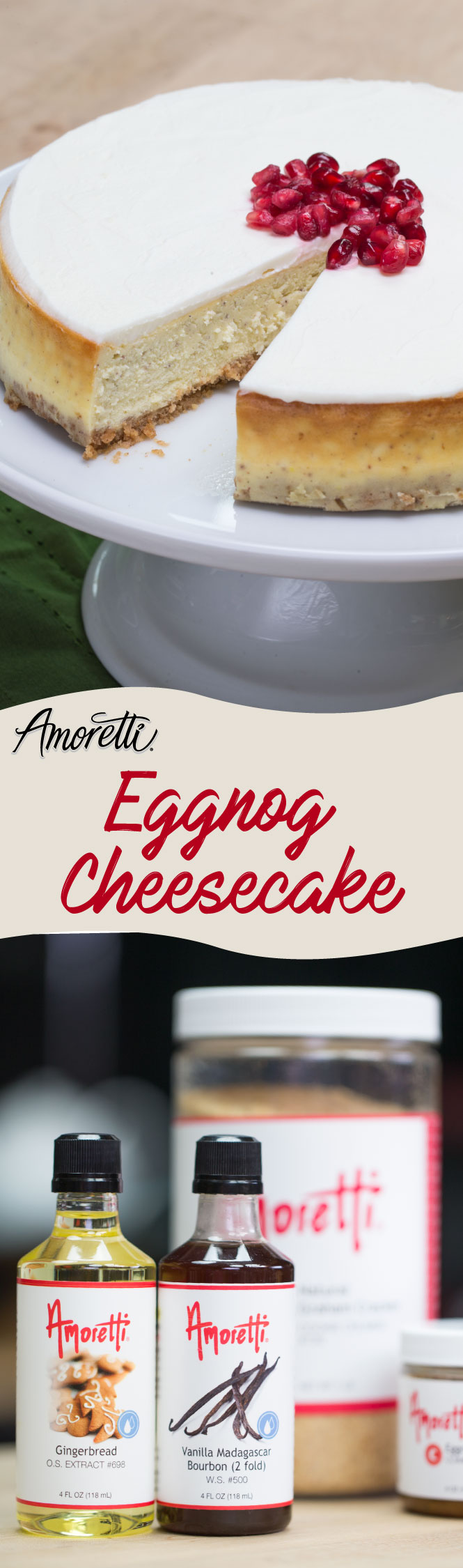 The holidays are here and it's the most wonderful time of the year to make some eggnog cheesecake!