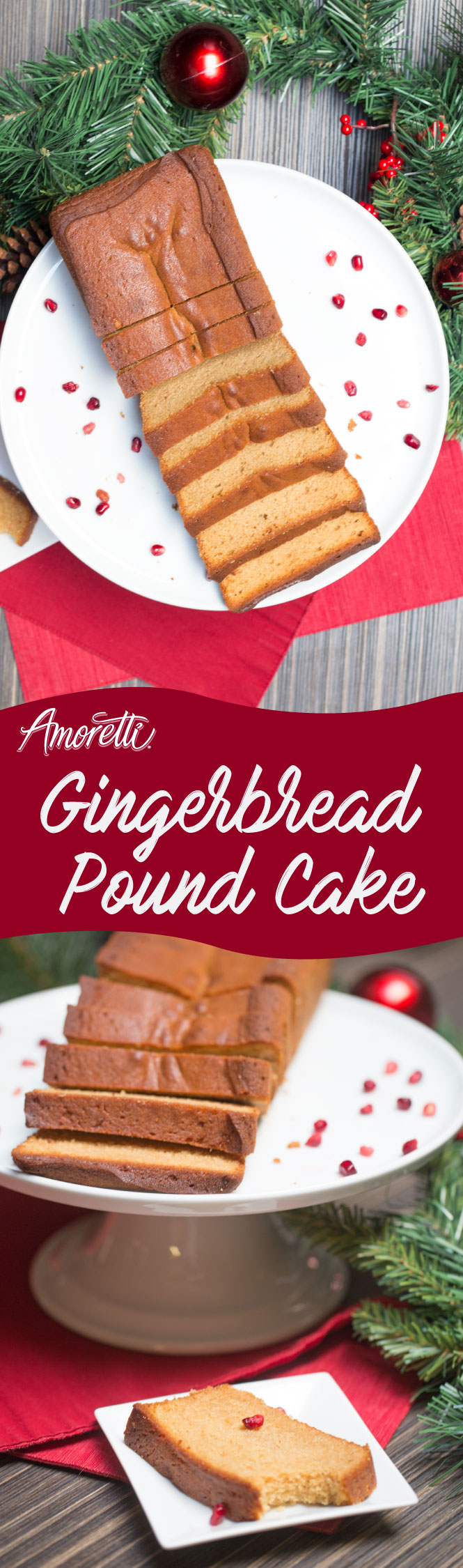 A great recipe for the holidays our gingerbread pound cake its pack with flavor!