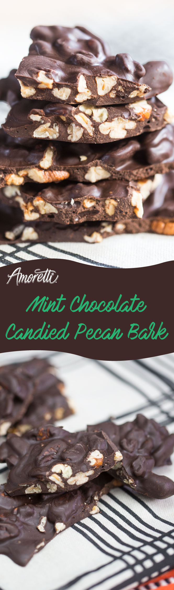 Our Mint Chocolate Candied Pecan Bark is just what you want to bring to a party or just munch on at home.