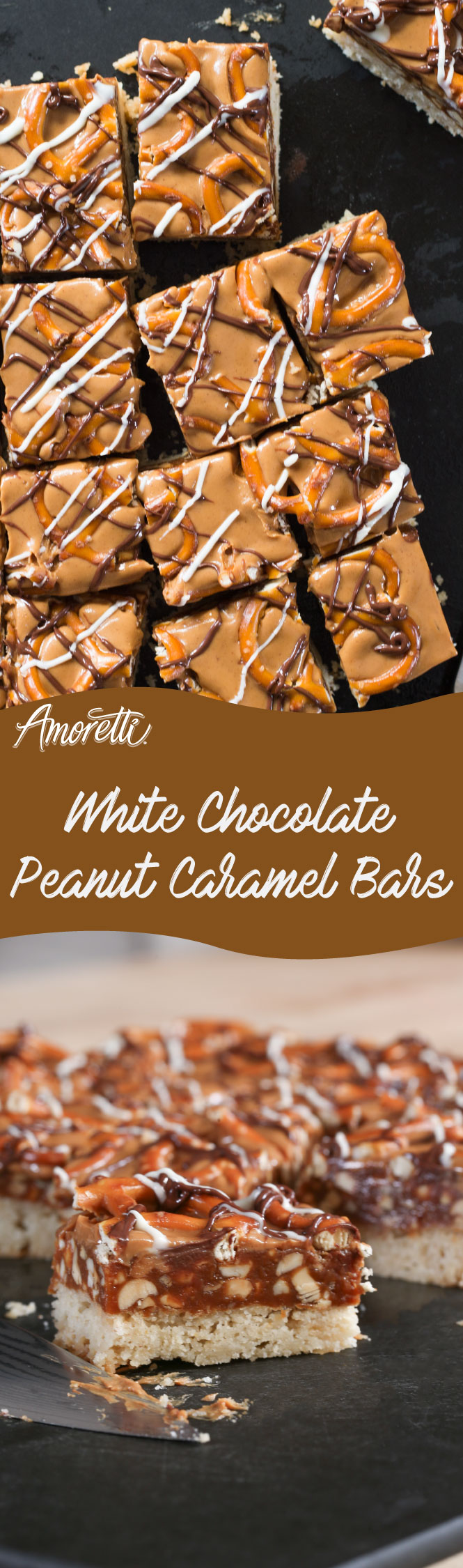 Decadent, crunchy and chewy; you'll simply fall in love with these White Chocolate Peanut Caramel Bars!