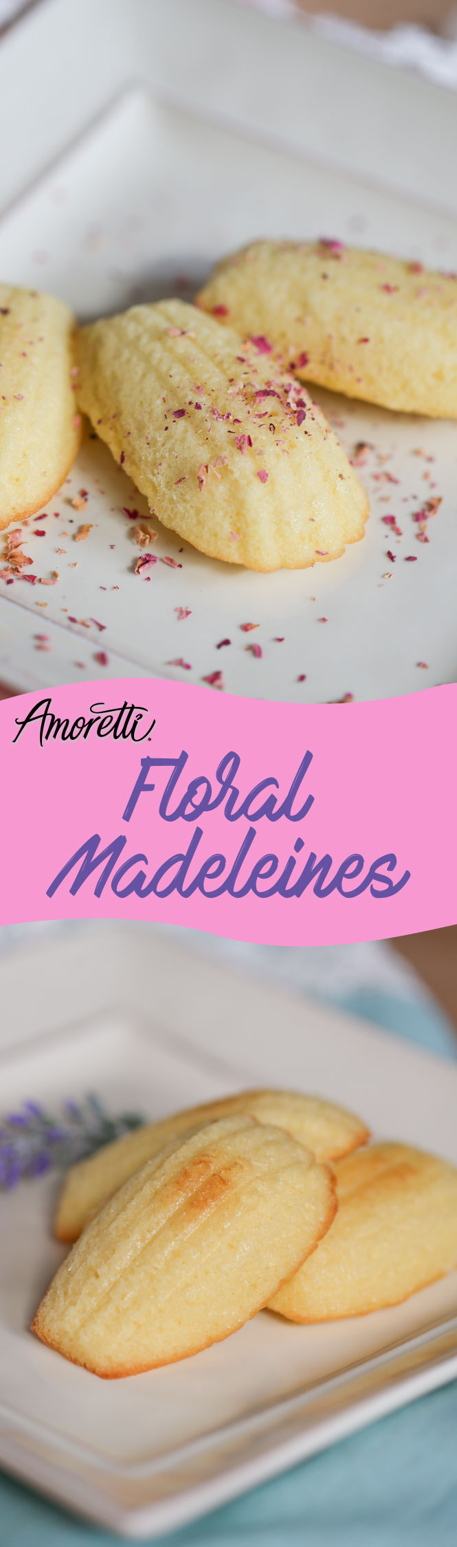 We highly recommend calling your friends, having a tea party, and bringing out these floral madeleines to enjoy!