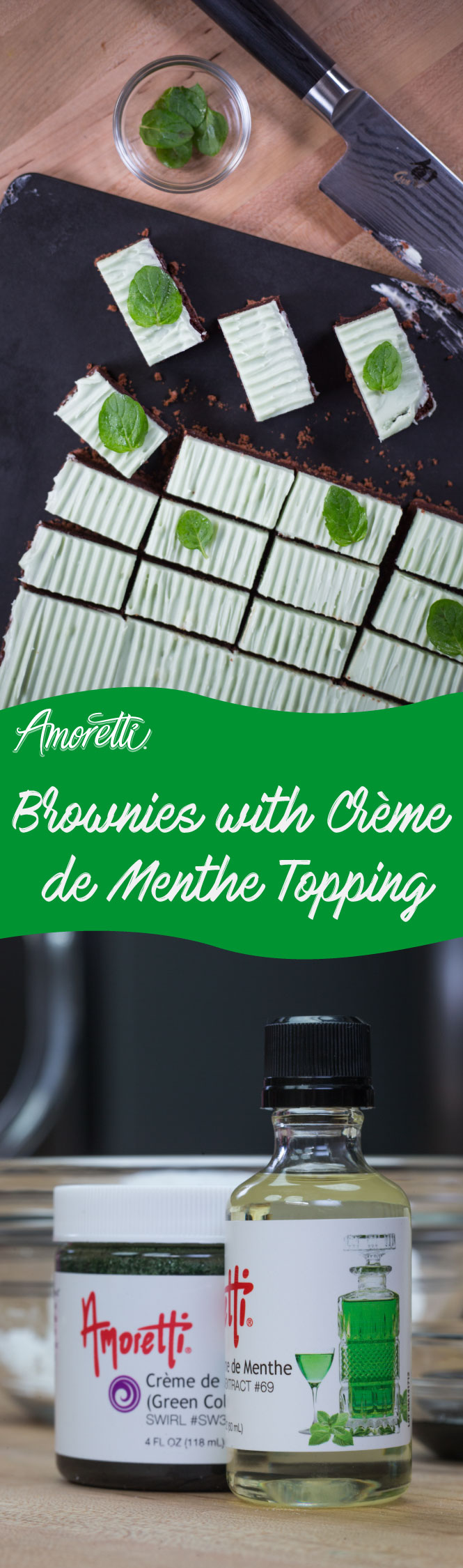 Our recipe puts a spin on a regular brownie by adding a crème de menthe cream cheese topping!