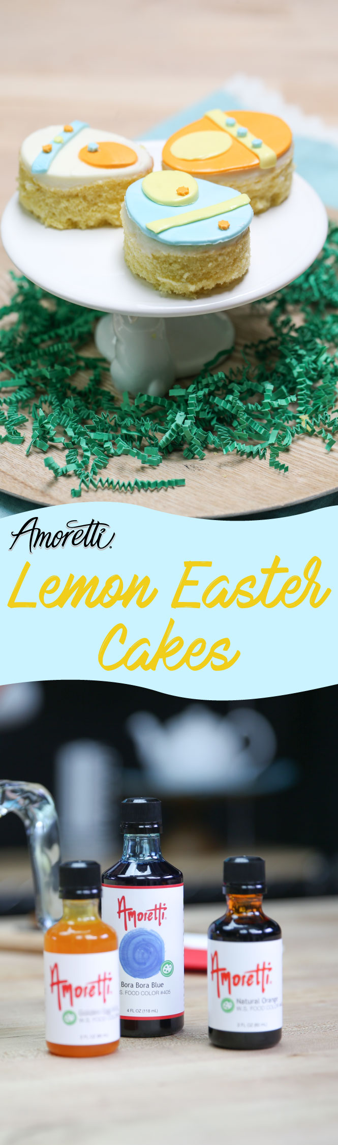 Look no further, this is the perfect recipe for Easter! These Lemon Easter Cakes are super adorable and delicious!