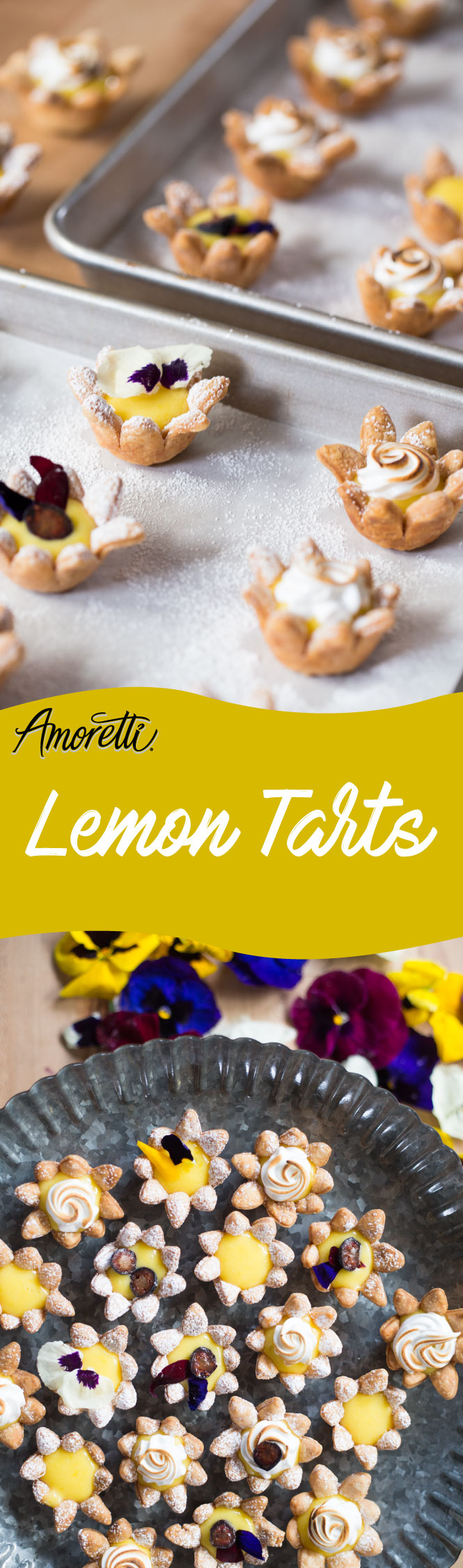 Spring. The weather gets warmer and flowers bloom. You want that perfect treat for your Easter party or for a beautiful spring day, well, this is it: lemon tarts!