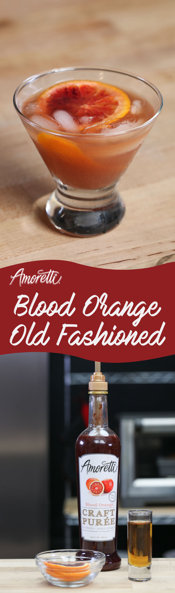 This Blood Orange Old Fashioned is bursting with flavor and so simple to make!
