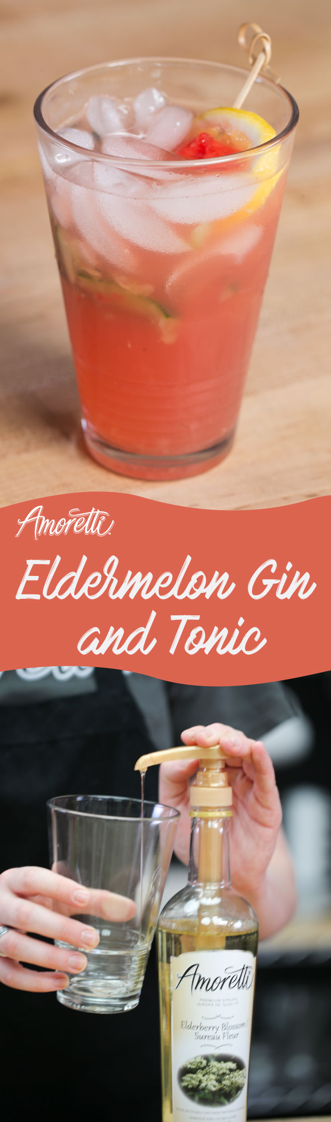 With a dollop of agave nectar for sweetness and a touch of elderberry blossom syrup, our Eldermelon Gin and Tonic is sure to be a hit this summer!
