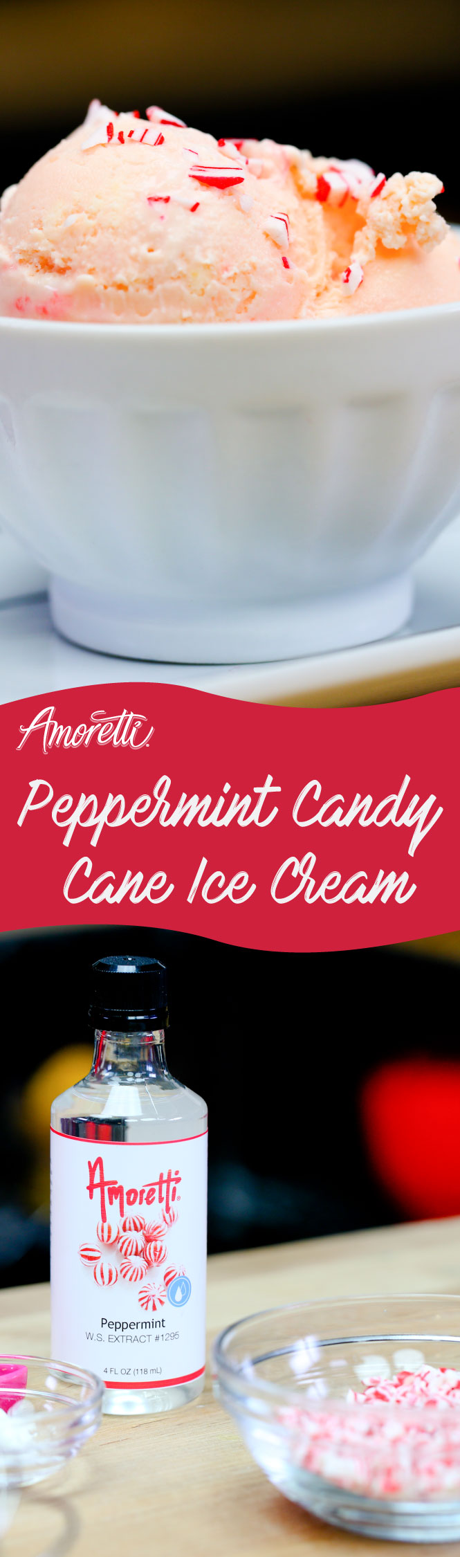 We have combined our favorite holiday candy with ice cream to make a delicious frozen treat!