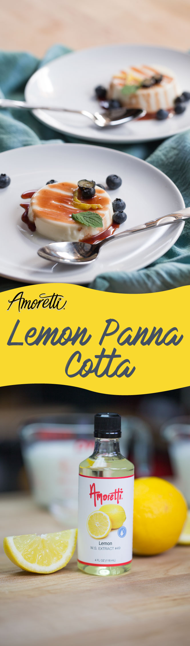 Easy to make and even easier to eat, Lemon Panna Cotta is the perfect treat for hot days!