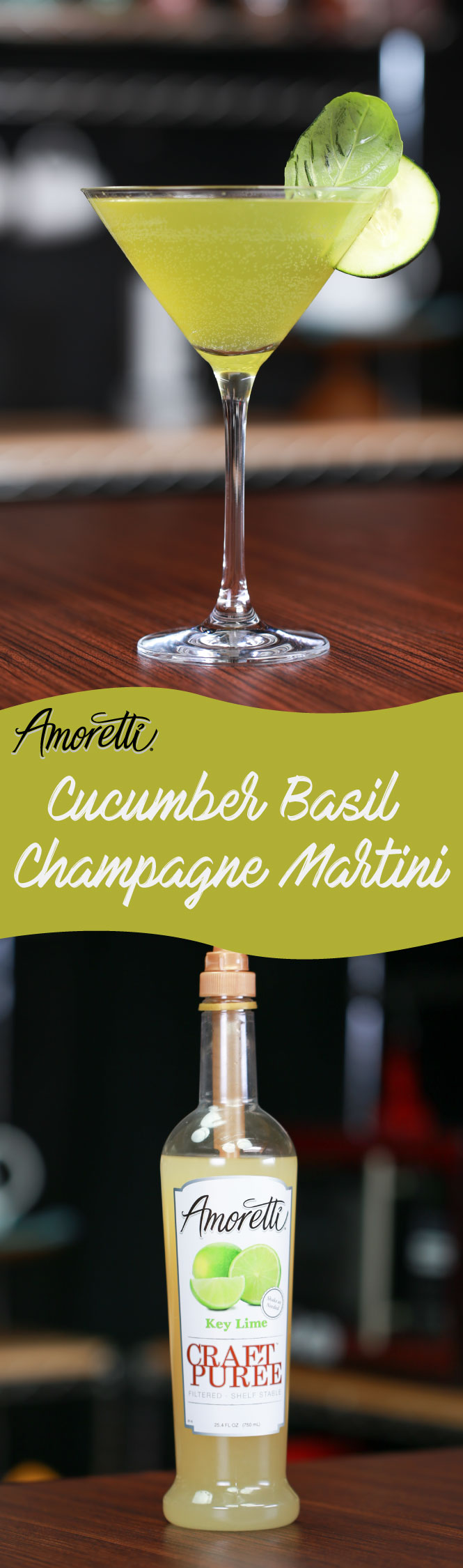 For a fun drink with tons of flavor, try a Cucumber Basil Champagne Martini!