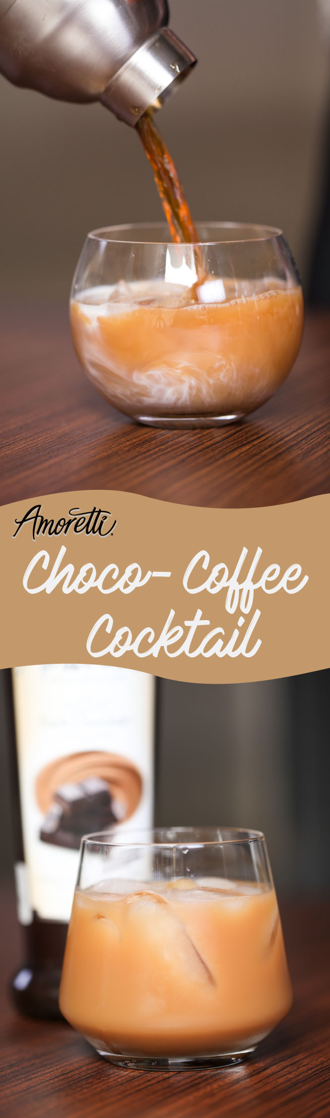 Celebrate Mother's Day by making her a delicious choco-coffee cocktail!