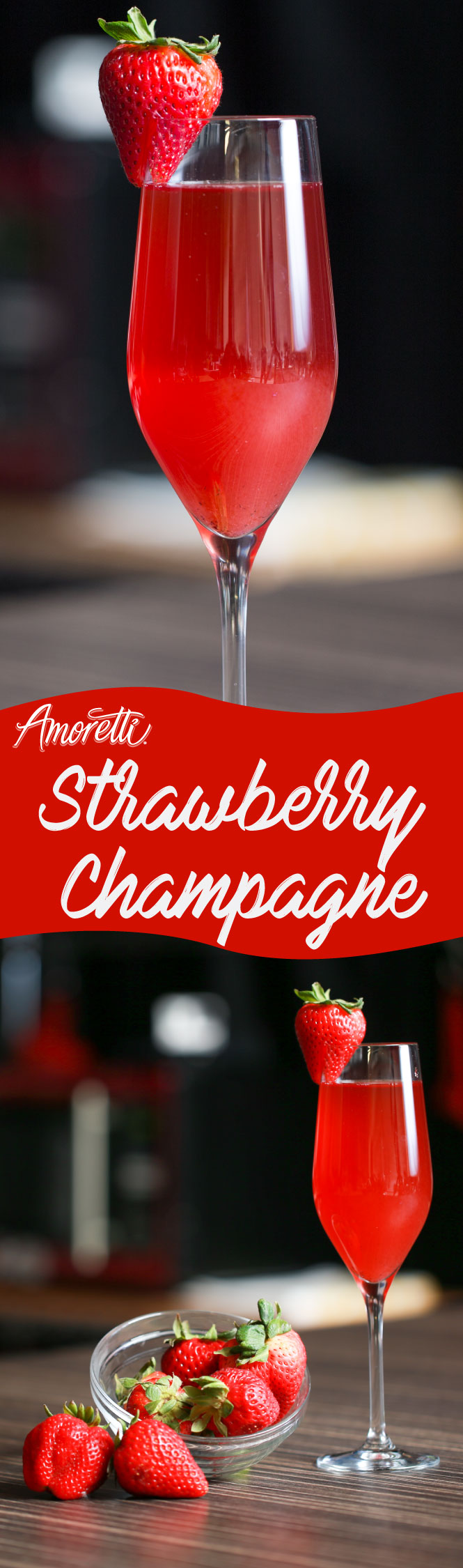 Bring in the New Year with this glamorous Strawberry Champagne!