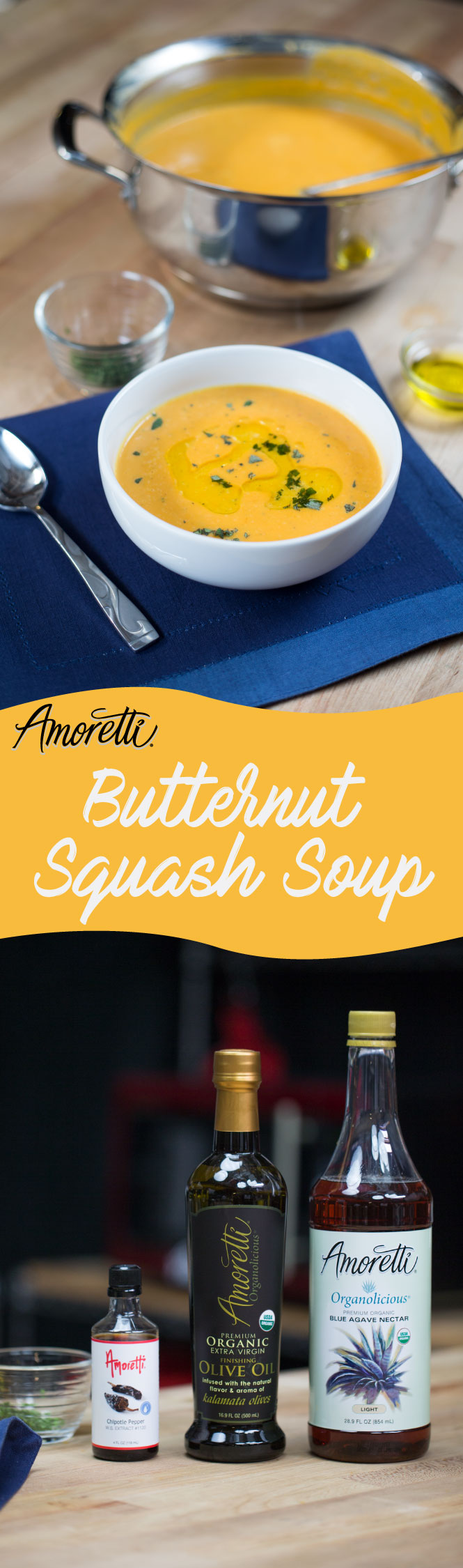 Butternut Squash Soup is the perfect meal to keep you warm! Its creamy texture and savory taste make it worth staying in.