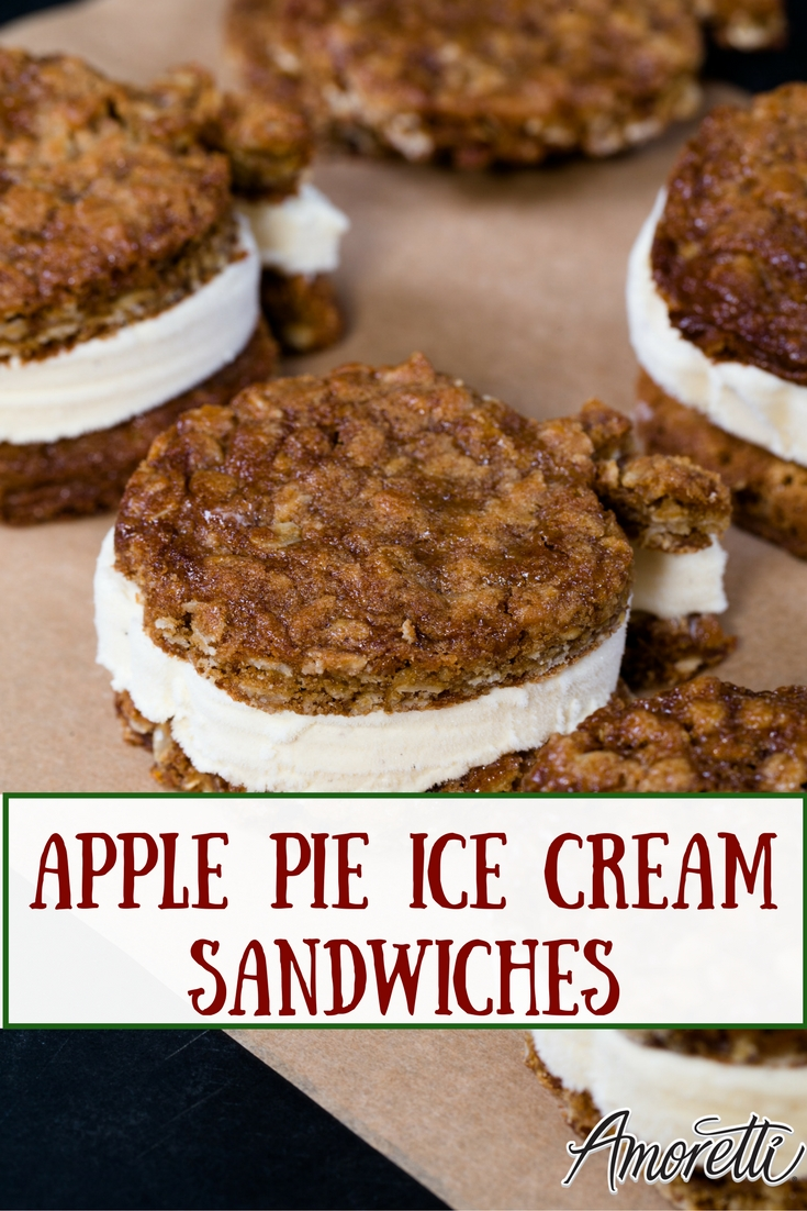 Amoretti Apple Pie Ice Cream Sandwiches: The most creative, chilliest dessert for summer — our Apple Pie Ice Cream Sandwiches!