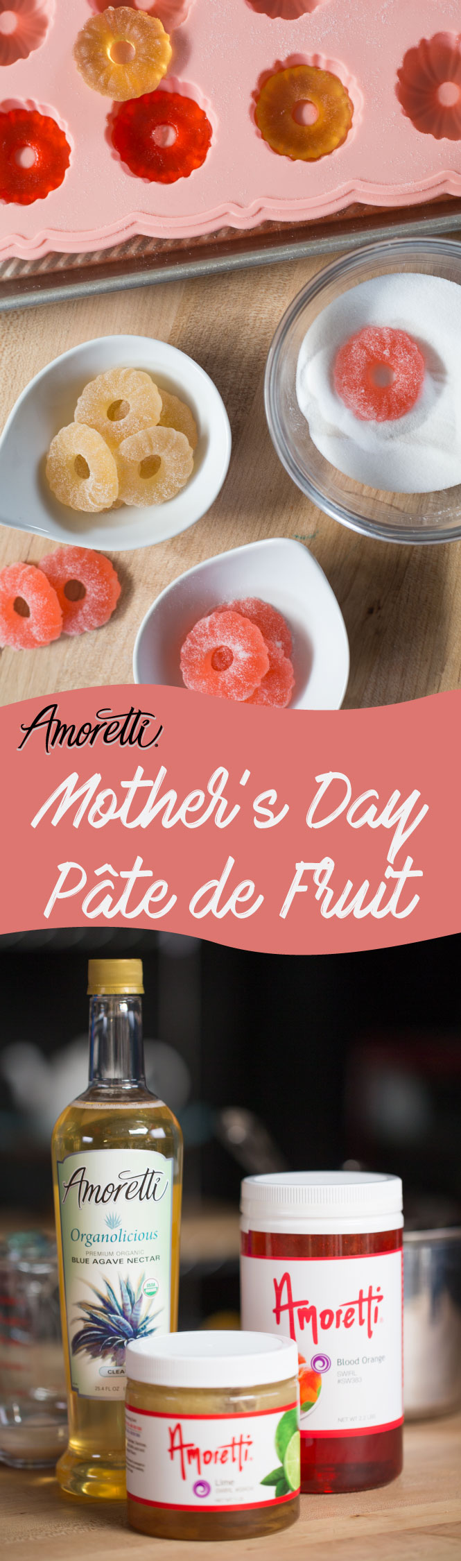 Lime and Blood Orange Pâte de Fruit are colorful, fruity, and oh so soft and chewy!