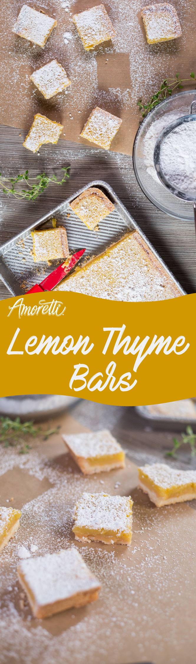 We've updated the classic lemon bar with a pinch of thyme!