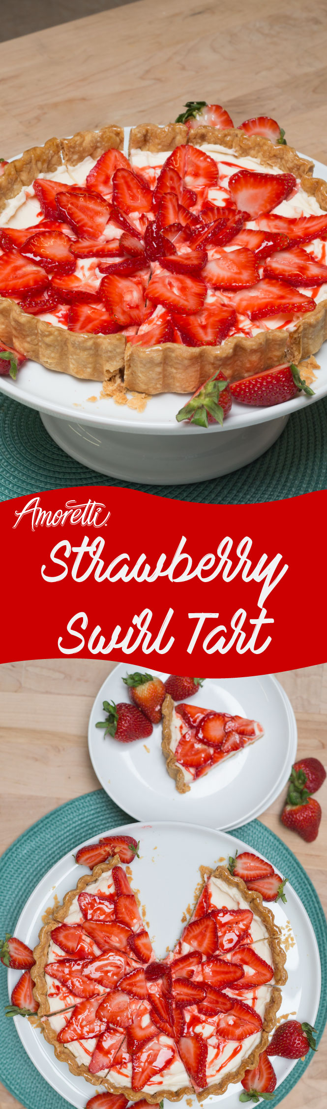 Impress your guests with this fancy Strawberry Swirl Tart!