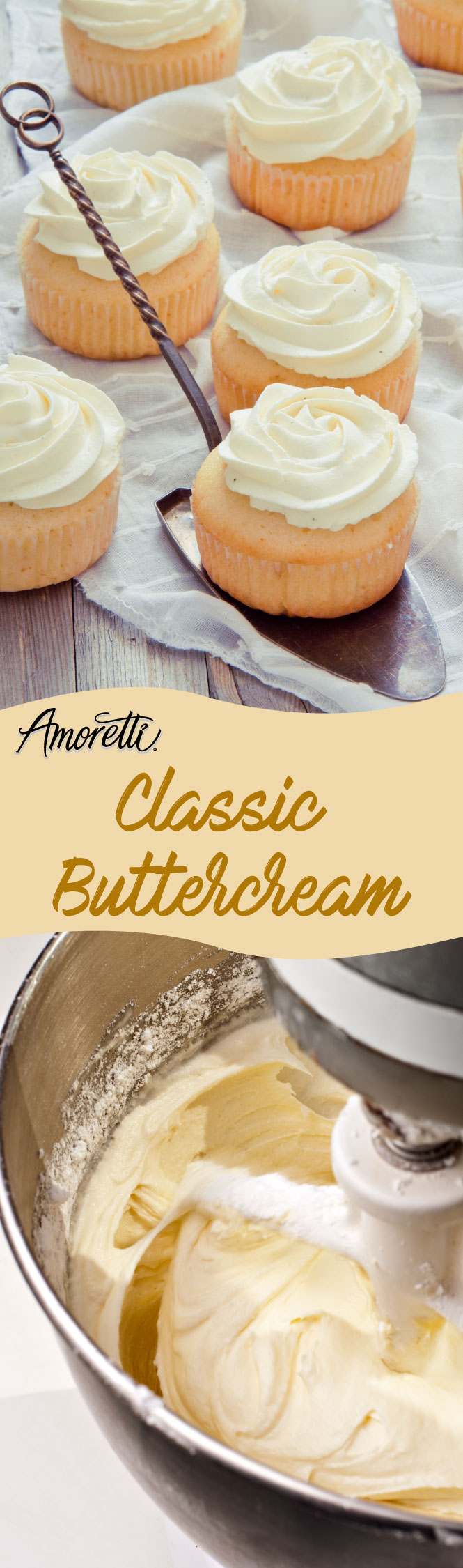 Super quick recipe for a classic American buttercream that can be used to frost any cake or cupcake!