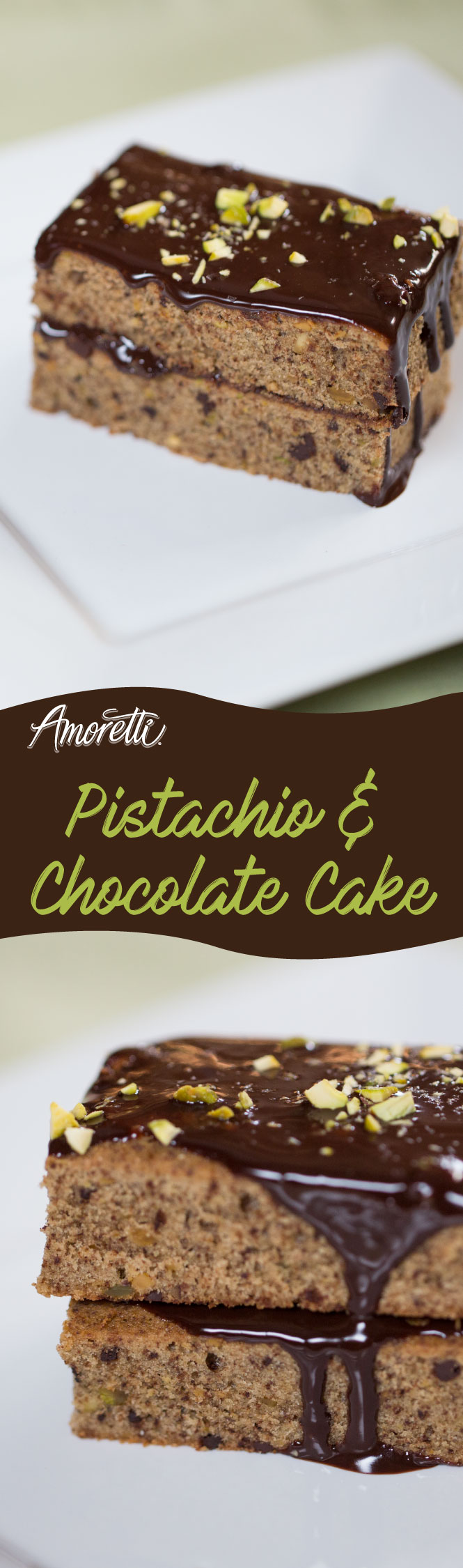 A decadent combination of pistachio and chocolate, great for company!