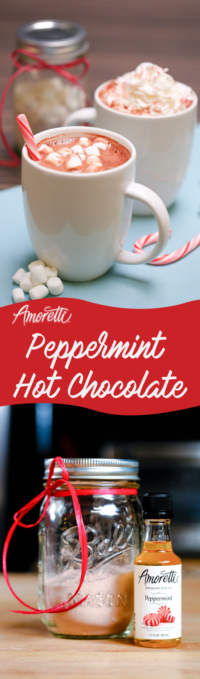 The joy of giving is a lot more satisfying than receiving so give the gift of delicious, chocolatey goodness with our Peppermint Hot Chocolate mix!