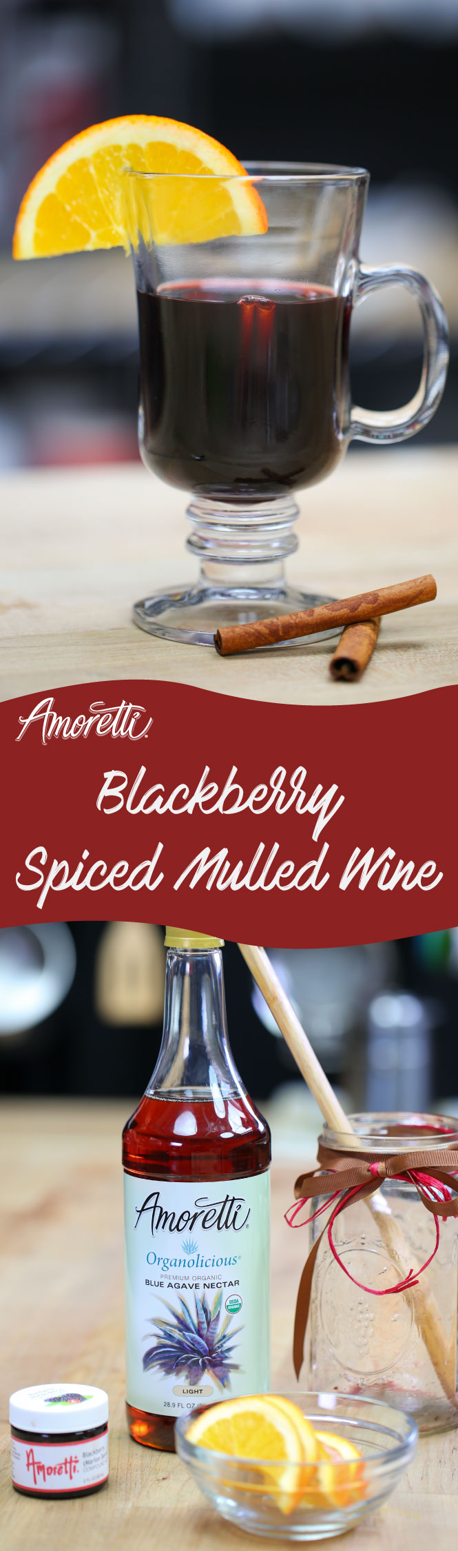 Our Blackberry Spiced Mulled Wine not only tastes delicious but will warm you up on those cold winter nights!