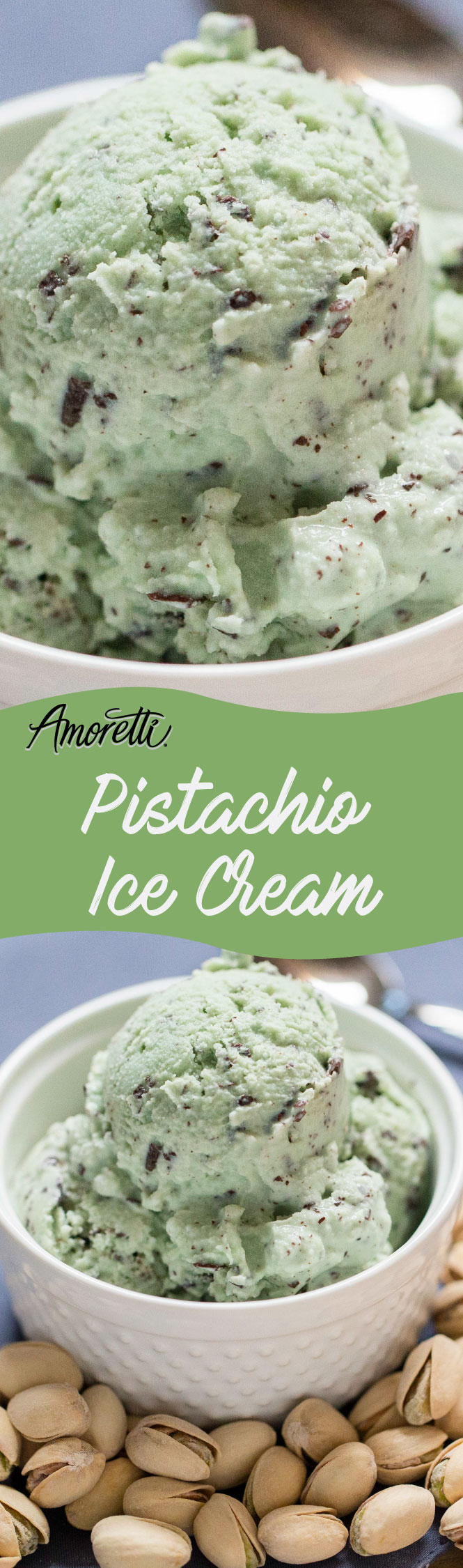 Pistachio Chocolate Chip is one our favorite ice cream flavors!