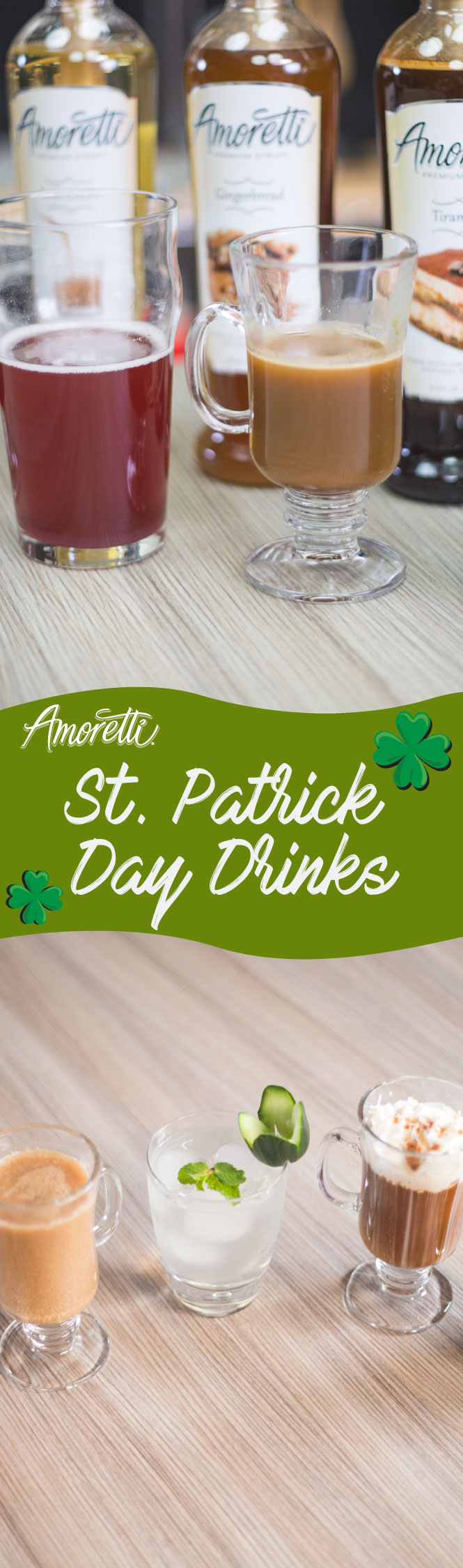 St. Patrick Day's is never the same without some over the top creative and tasty cocktail drinks!