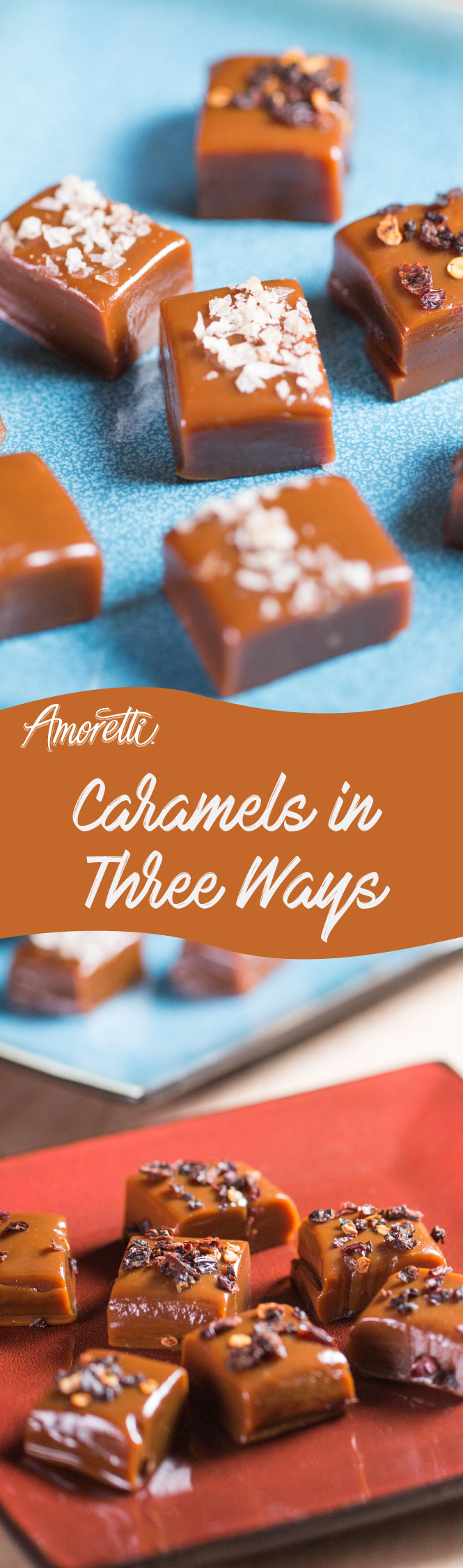 Classic, sea salt, or spicy caramels; you choose!