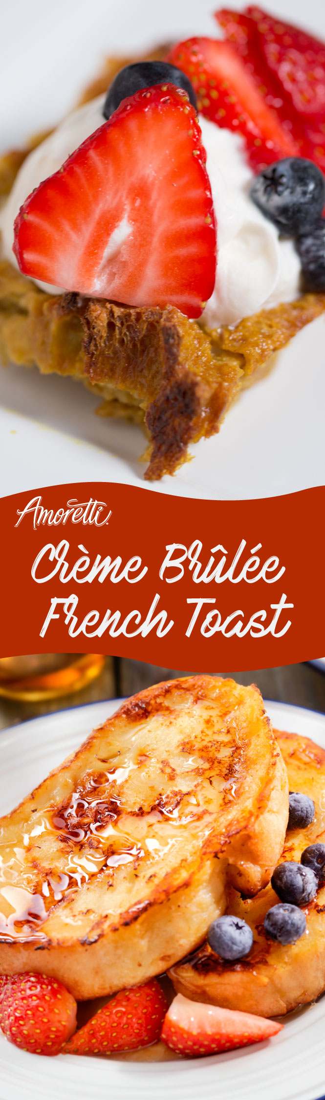 Combine your favorite brunch desserts and make your one of a kind Crème Brûlée French Toast!