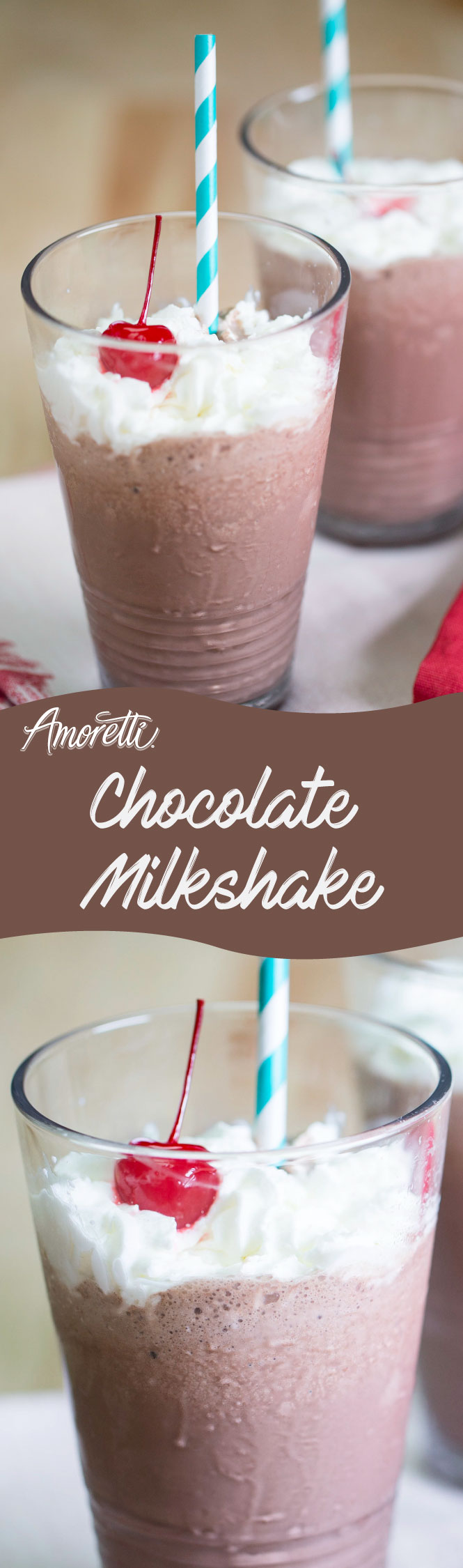 Make you kiddos a chocolate milkshake with rich vanilla flavor!