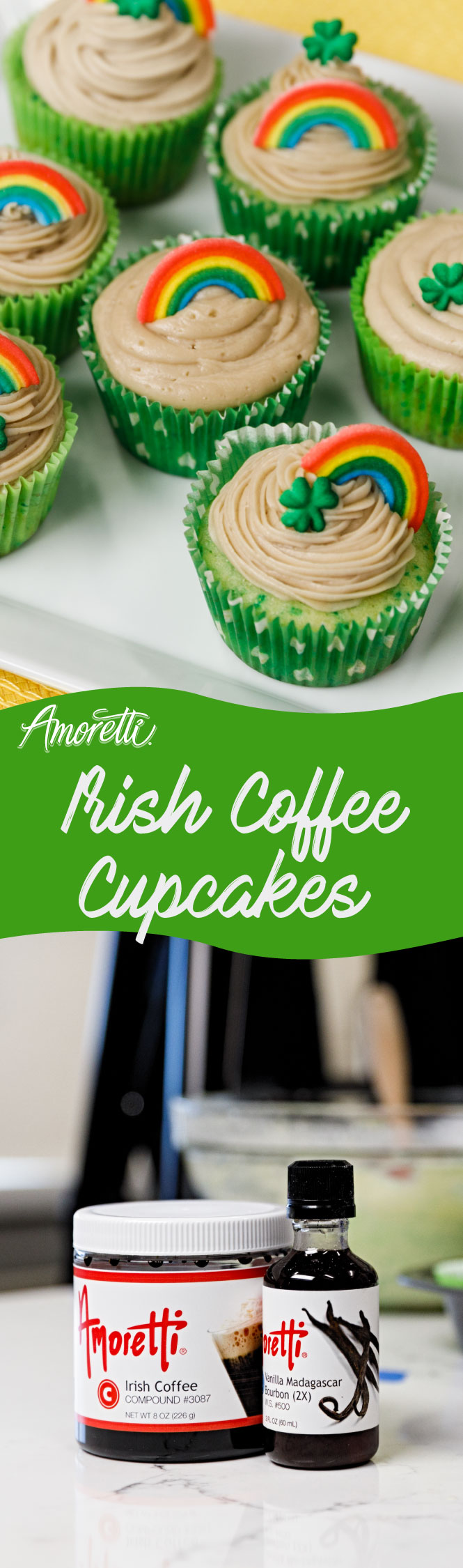 Irish Coffee Frosting gives these cupcakes a festive touch!
