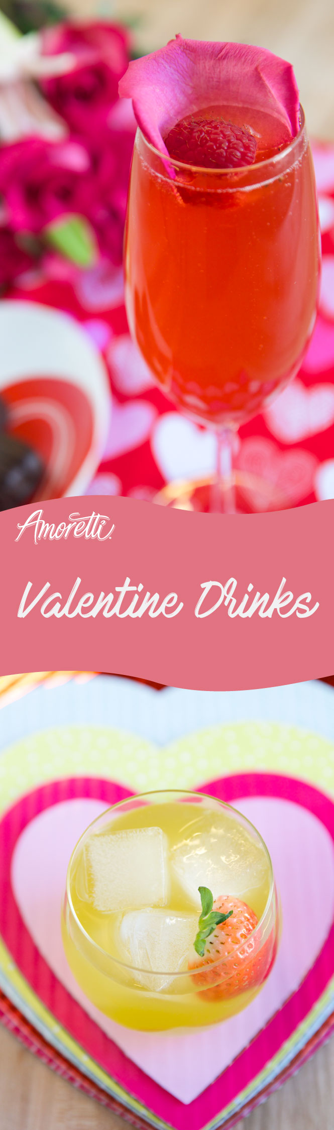 Romantic, fruity cocktails are a must for Valentine's Day!