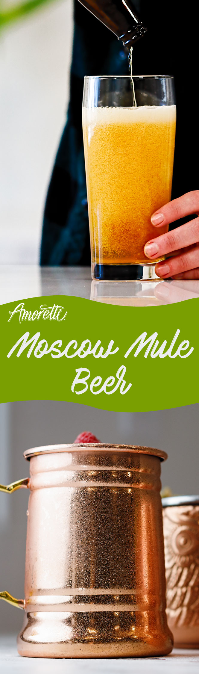 Take your beer beyond the lime wedge with a pump of Moscow Mule Craft Purée!