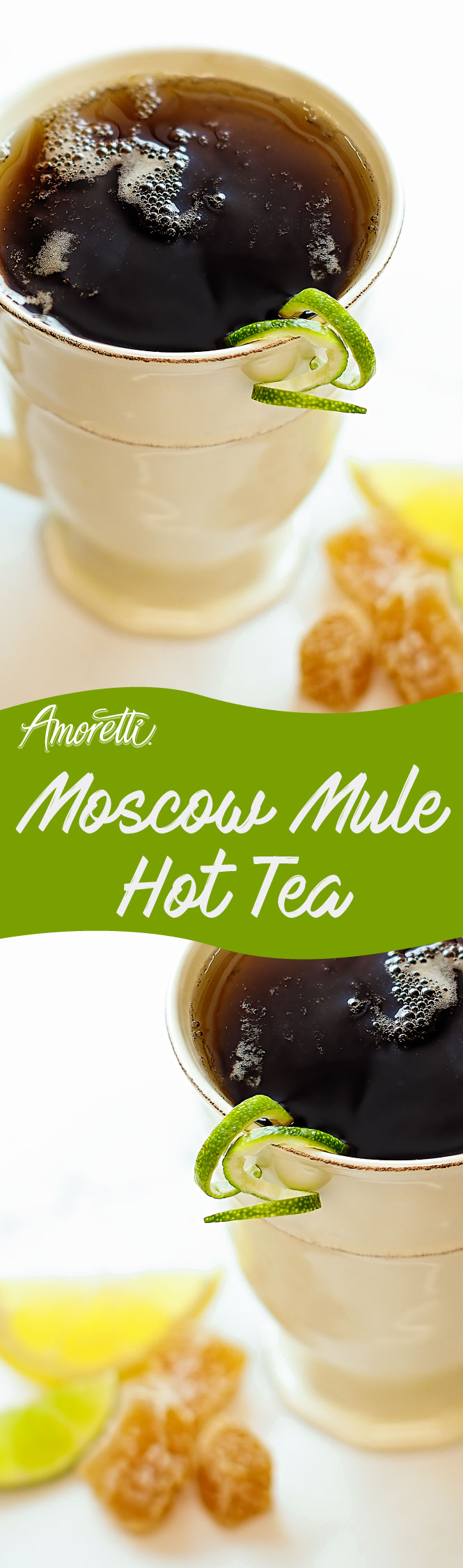 Brew a warm cup of tea with a pump of Moscow Mule Craft Purée™!