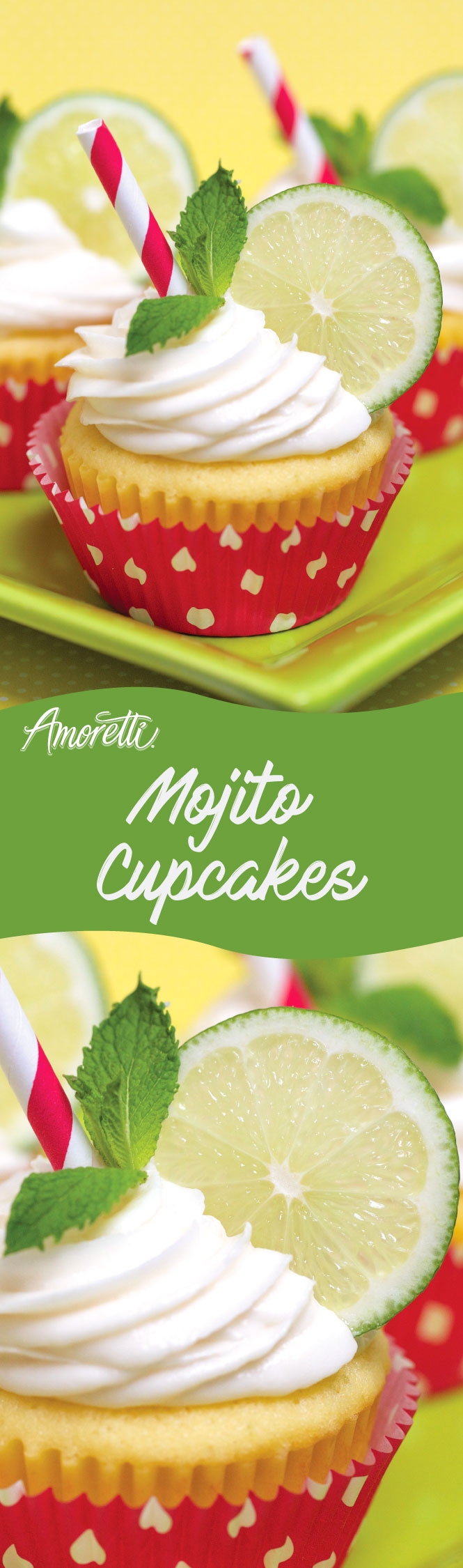 Image yourself soaking up the sun and enjoying the beach when you take a bite of this delicious Mojito Cupcake!