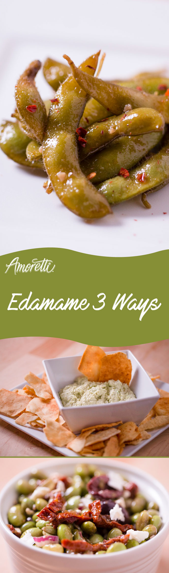 Edamame makes a great appetizer and snack!