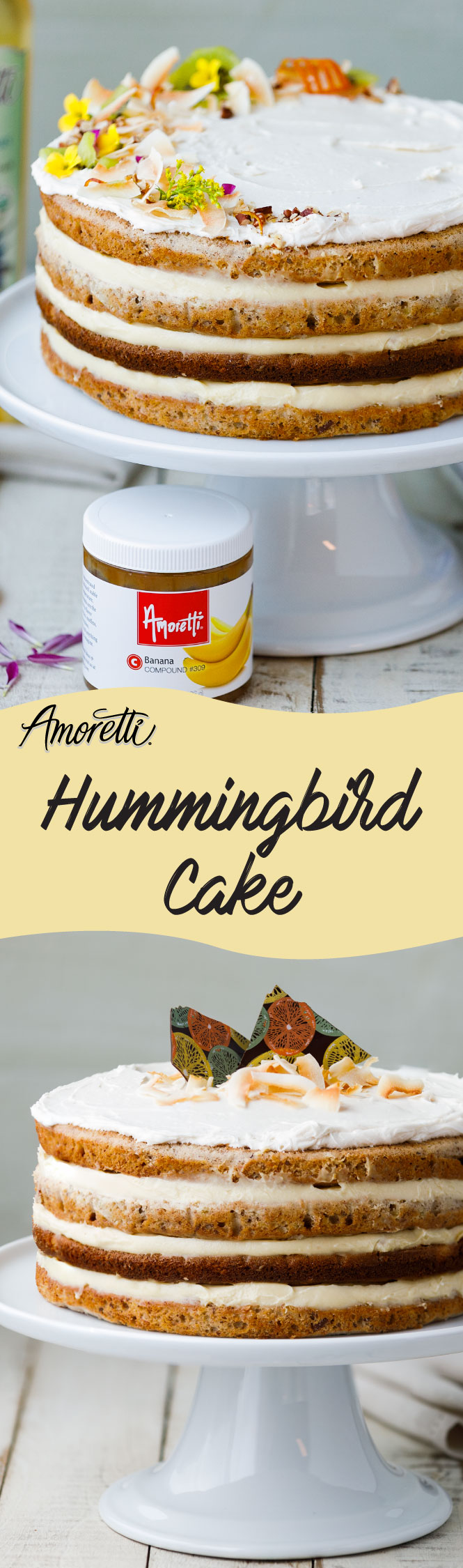 A show-stopping Hummingbird Cake for spring!