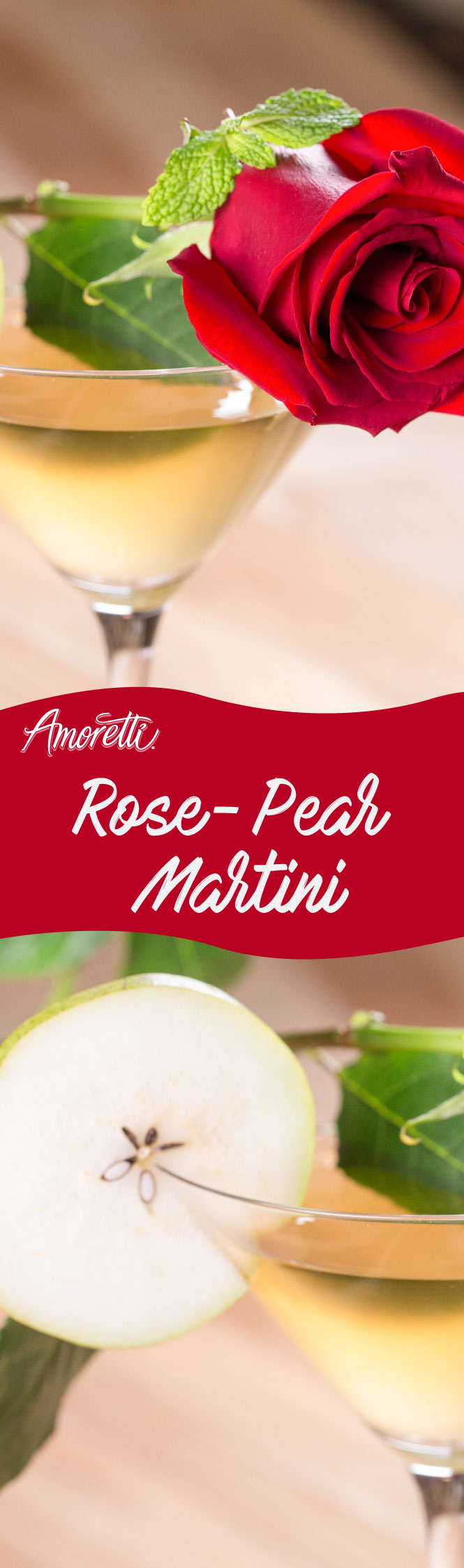 Looking for a cocktail to impress your date? Try our Rose-Pear Martini!
