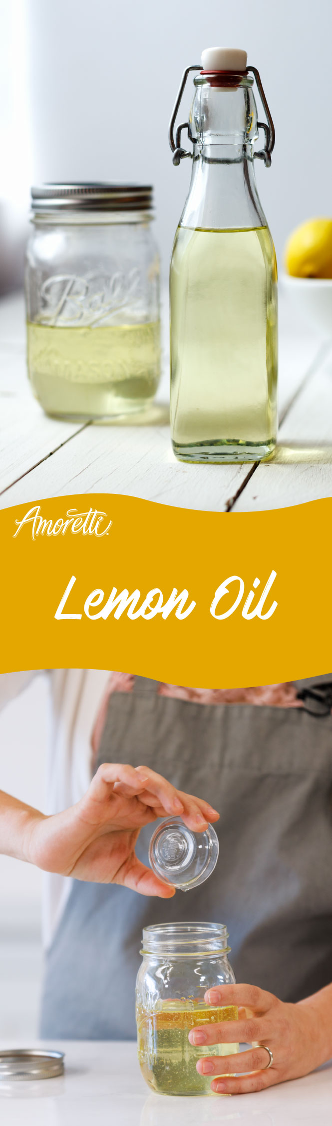 Add a splash of flavor to any meal with your very own house-made Lemon Oil!